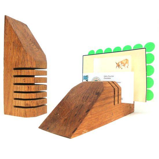 Wood Block Desktop Organizers