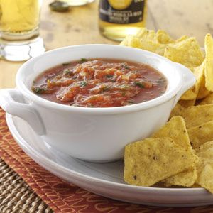 Slow-Cooked Salsa Recipe from Taste of Home -- shared by Toni Menard of Lompoc, California  #crockpot  #slow_cooker