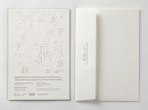 Invitations: letterpress