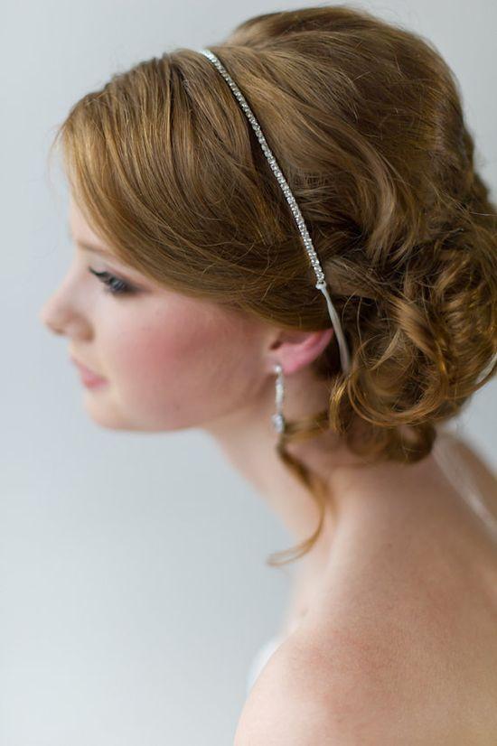 Bridal Ribbon Headband Luxe Satin Ribbon by PowderBlueBijoux, $29.00