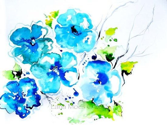 Floral Watercolor Original Painting - Color Me Happy by Lana Moes