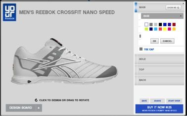 Design your own work out shoe with #YourReebok