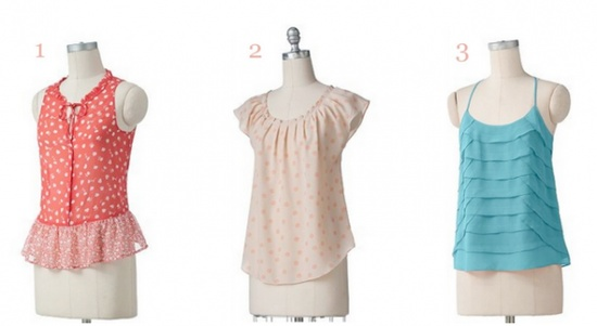 ladylike tops for summer by lc lauren conrad collection