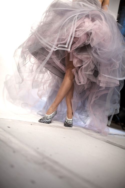 High-low Tulle