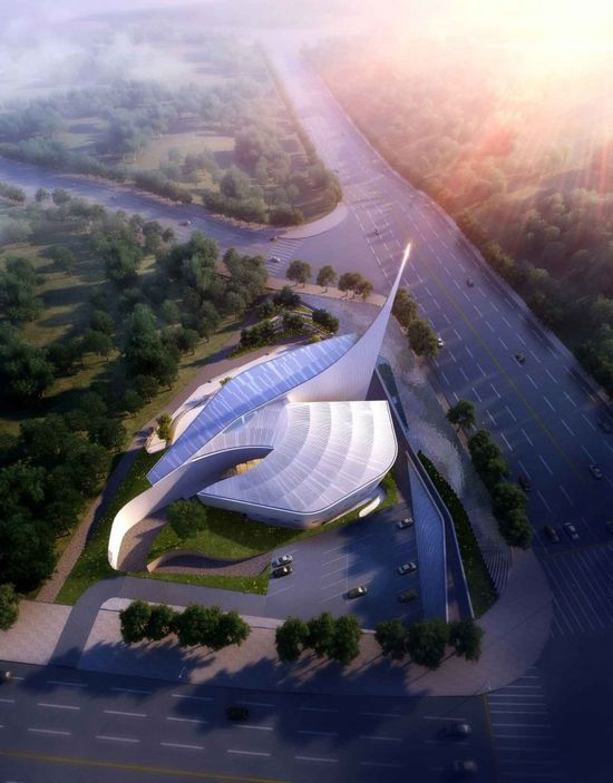 'Dove of Peace' Church / WEAVA Architects - Ordos, China