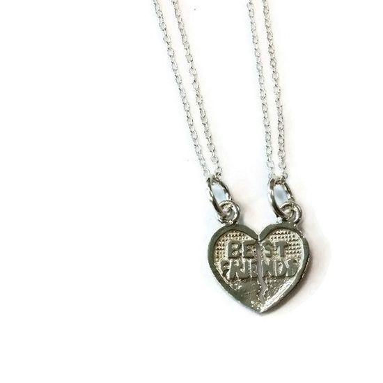 Best Friend Necklaces BFF Jewelry Sterling by jewelrybycarmal, $40.00