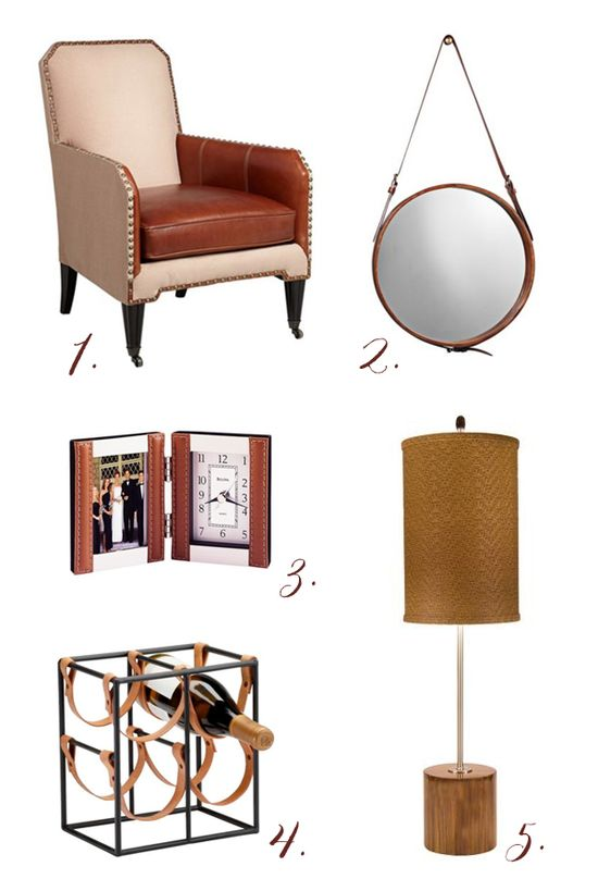 Leather Furniture Lighting and Decor