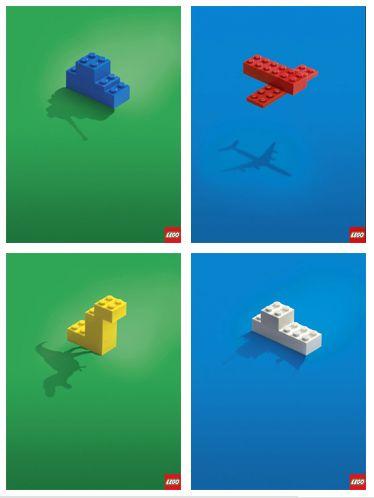 LEGO Print Shadow Ads