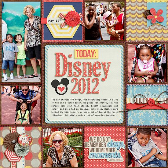 .Disney scrapbooking layout page idea