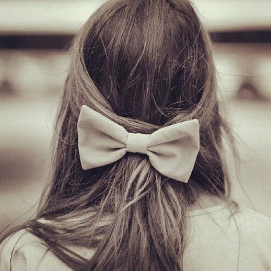 cute hair with bow