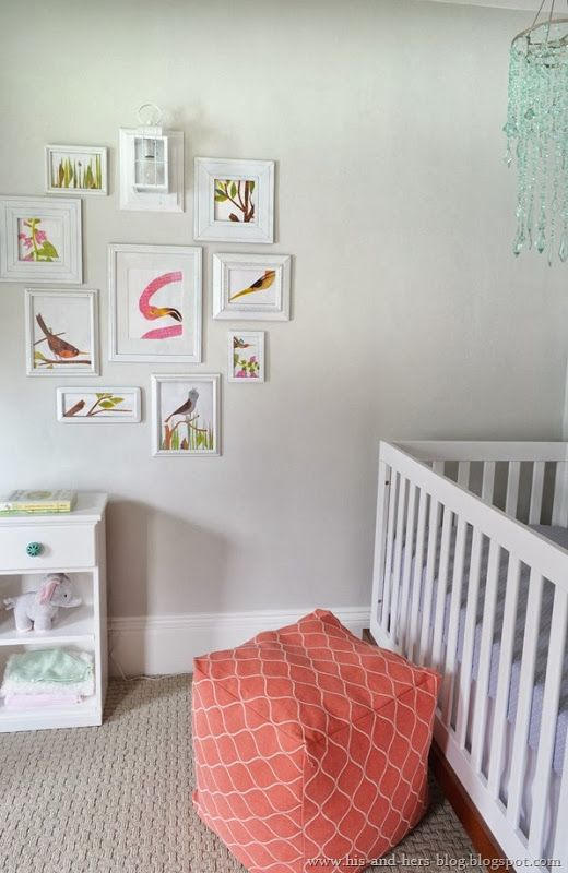 baby girl nursery from his and hers