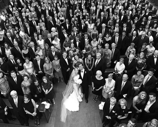 I love this idea of getting a picture of everyone at your wedding!