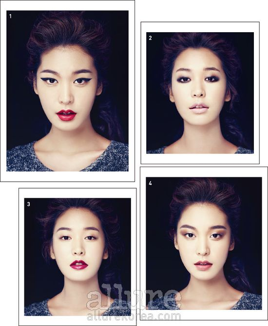 different make up looks on asian eyes