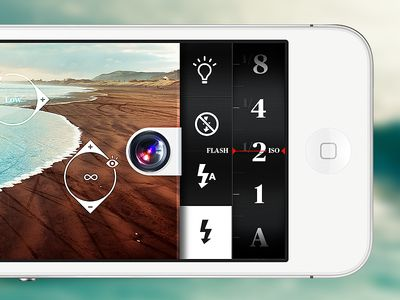 Camera App by Claudio Guglieri #UI #UserInterface #Switch #Button