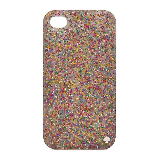 Kate Spade Glitter silicone iPhone 4 case