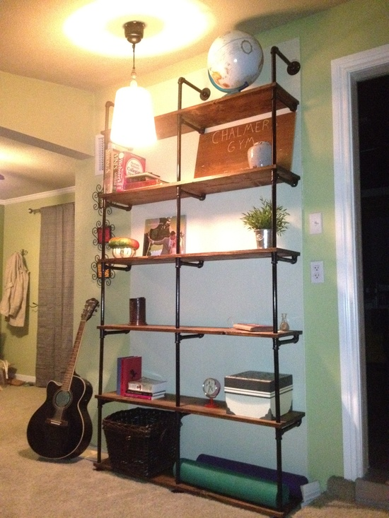 industrial style shelving unit blog