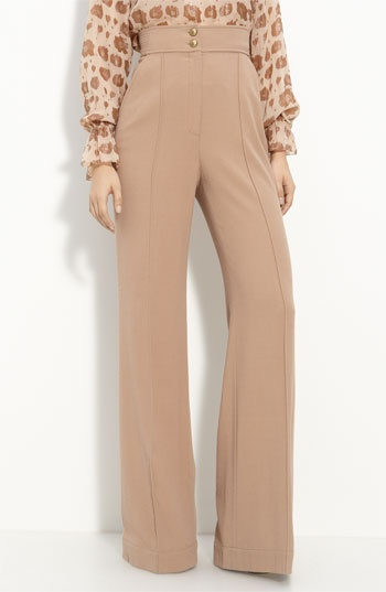 high waisted, buttoned, blush/ tan pants. must have. ...someday.
