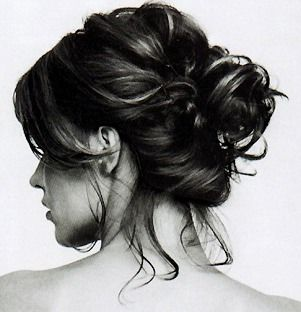 I wish my hair looked this good in a messy bun