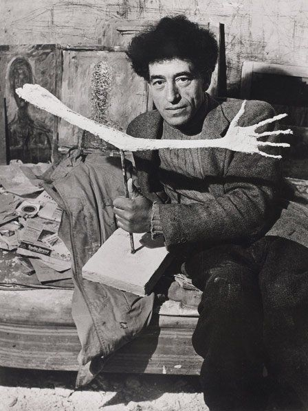 Alberto Giacometti dans son atelier, Paris, 1948. Photographed by (George) Brassaï.