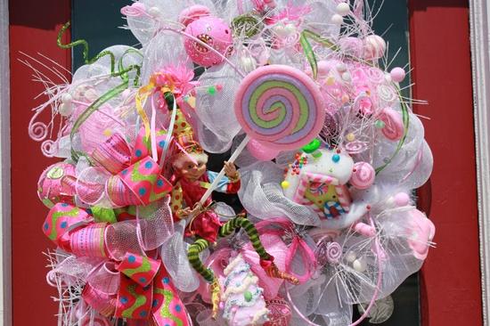 Candyland Christmas Wreath
