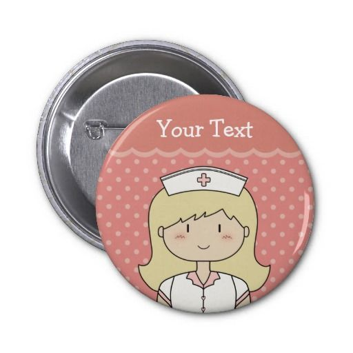 Cute cartoon nurse (blonde) pins