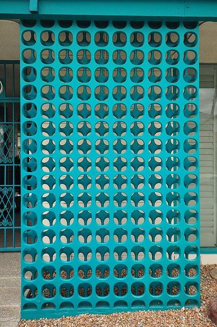 colorful concrete screen