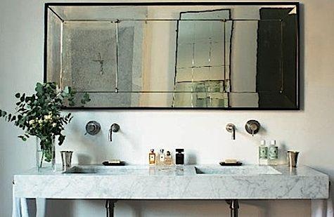 Aged Mirror/Marble sink rose uniacke double sink 3, via Flickr.