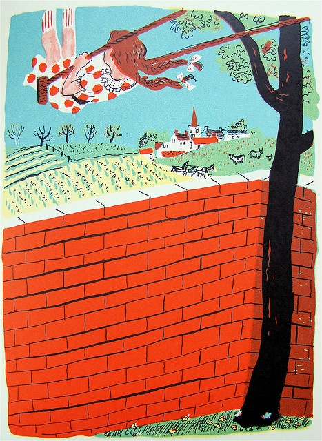 """From a 1944 edition (illustrated by Roger Duvoisin) of """"A Child's Garden of Verse,"""" by Robert Louis Stevenson."""