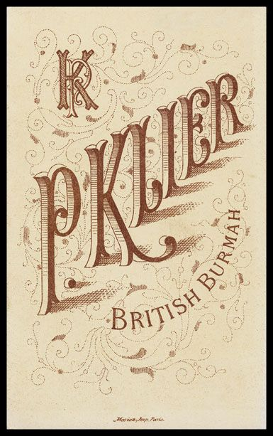 3D Vintage Typography, Late 1800s