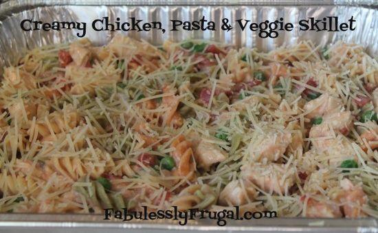 Creamy Chicken, Pasta & Veggie Skillet Recipe