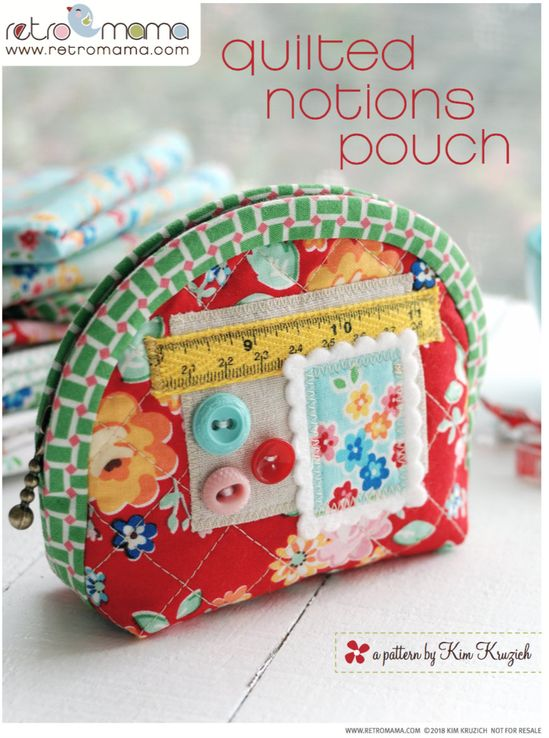 Zipper Pouch PDF Sewing Pattern in two sizes | Etsy
