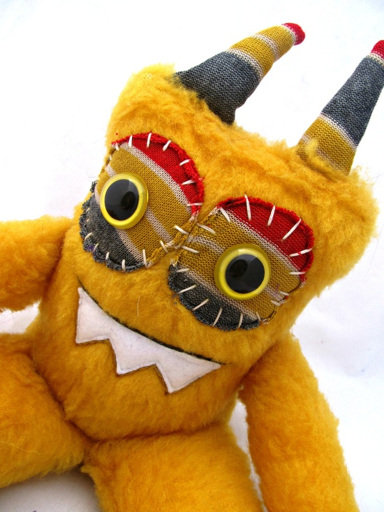 Love Love Love the colors on this one!!!!  Plush Monster HADLEY handmade one of kind plushie doll stuffed animal