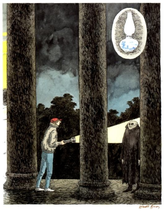 The Lamp from the Warlock's Tomb, illustration by Edward Gorey