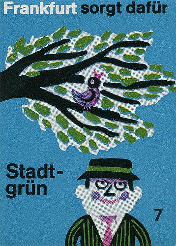 German matchbox label, via Flickr.