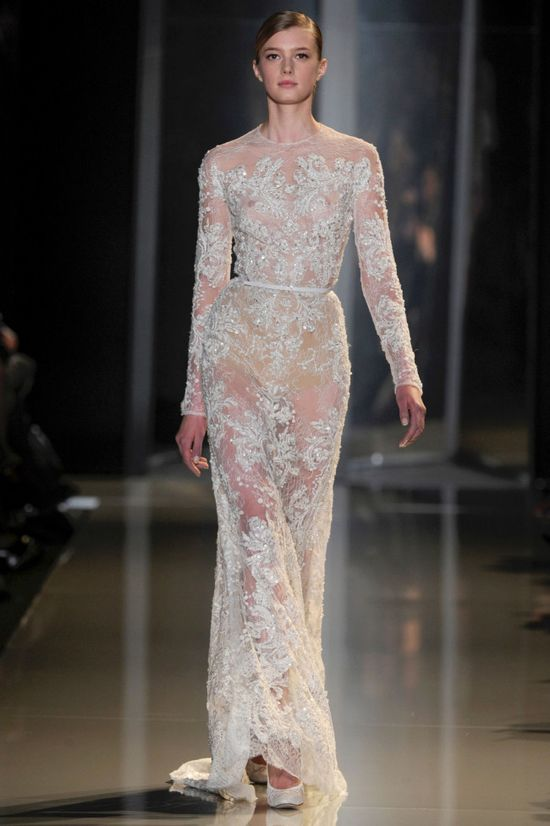 Bridal trends from Paris Couture: Sheer beauty at Elie Saab haute couture spring 2013