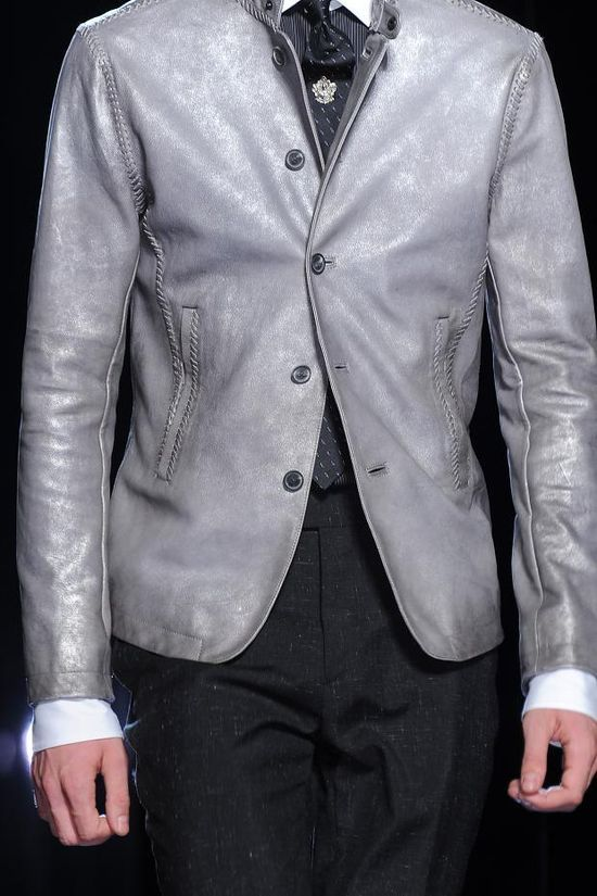 Men's leather jacket by John Varvatos Men's Details S/S '14 #men's fashion #stylish #PurelyInspiration #collection #PurelyInspiration #speedo's #speedo #mensfashion #men's #fashion #style #stud #gay #cock #penis #straight #hot #men #gentlemen #speedo #jock #jockstrap #underwear   #gentleman #cloths #clothing  #jacket #coat #shirt #bulge #pants