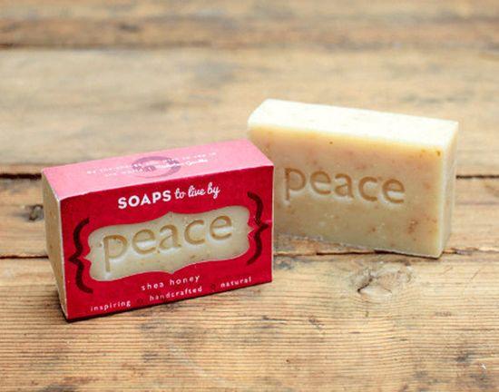 PEACE  Shea Honey Handmade Soaps by SoapsToLiveBy on Etsy, $8.00