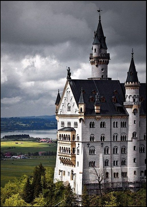 Spires, Neuschwanstein Castle, Germany