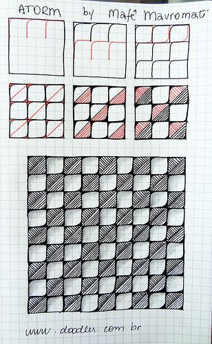I really like the different designs  and lines in the squares.