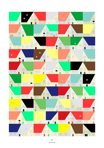 the burbs - Print by Jay Cover, via Flickr