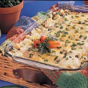 Chicken Chili Lasagna - made with flour tortillas