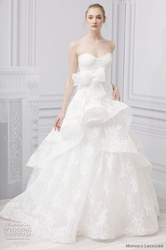 Monique Lhuillier Bridal Spring 2013 Wedding Dresses