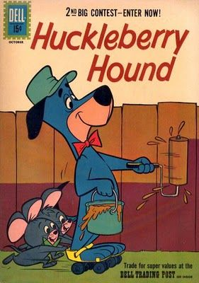 Patrick Owsley Cartoon Art and More!: VINTAGE HUCKLEBERRY HOUND COMIC BOOK COVERS!