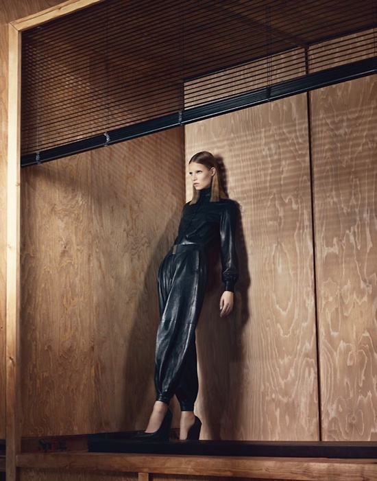 """New Noir"" : Suvi Koponen : UK Vogue September 2012 : Craig McDean"