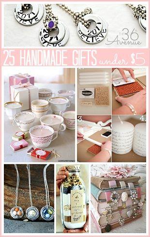 25 Handmade Gifts Under $5 (includes tutorials)