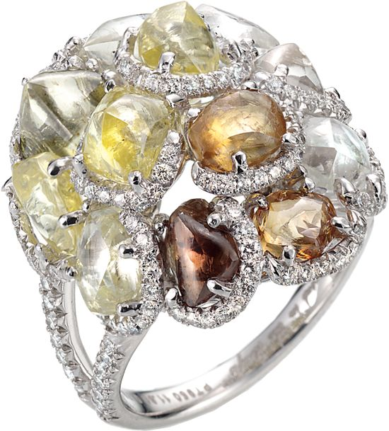 Rough Diamond Ring from Diamond in The Rough. Beautiful.