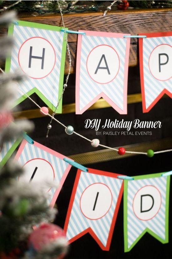 DIY Holiday Banner