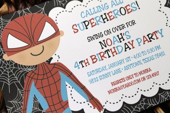 Superhero Spiderman Birthday Party by PaperMonkeyCompany on Etsy, $1.00