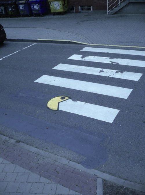 Hungry PacMan #StreetArt #art #PacMan #graffiti