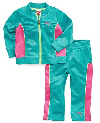 Puma Baby Set, Baby Girls 2-Piece Tricot Jacket and Pants - Kids Baby Girl (0-24 months) - Macy's